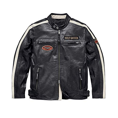 Harley-Davidson Men's Command Leather Jacket, Black (X-Large)