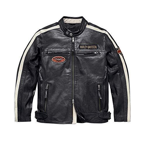 Harley-Davidson Men's Command Leather Jacket, Black (Large)