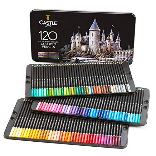 Castle Art Supplies 120 - Juego de lápices de colores, color 120 colores