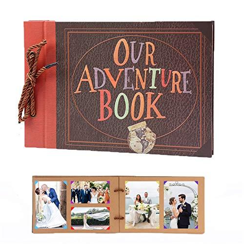 Álbum de Fotos Our Adventure Book DIY Álbum de Recortes 80 Páginas...