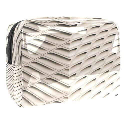 TIZORAX Beige Behang Cosmetische Tassen PVC Make-up Tas Reizen Toiletten Handige Pouch Organizer voor Vrouwen