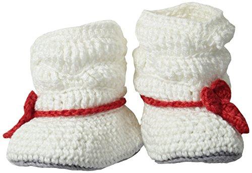 Jefferies Socks Baby Girls' Newborn Slouch Boot Crochet Bootie, White/Red