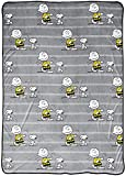 Peanuts Happy Dance Blanket - Bedding Measures 60 x 90 inches - Fade Resistant Super Soft Fleece (Official Peanuts Product)