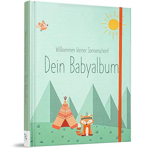 TWIVEE - Babyalbum - Babybuch zum Eintragen - Mädchen und Jungen - Baby - Erinnerungsbuch für das erste Jahr