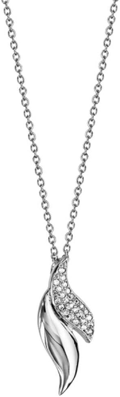 auténtico Bijoux Laperledplata Collar Plata 925Colgante Hoja con circonio circonio circonio  venta al por mayor barato