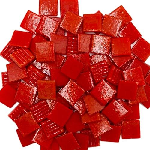 Armena 204150a96 Mosaiksteine zum Basteln Rot 260g 2x2 cm circa 86 Stück
