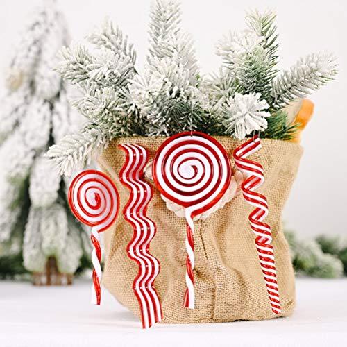 Deseo Sky Navidad Lollipops ornamento árbol de Navidad exquisito simulación caramelo colgante para mesa de comedor árbol de Navidad