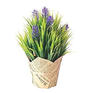 Fake Plants Lifelike Simulation Artificial Flower Lavender Plant Bonsai Home Office Garden Desk Party Decor