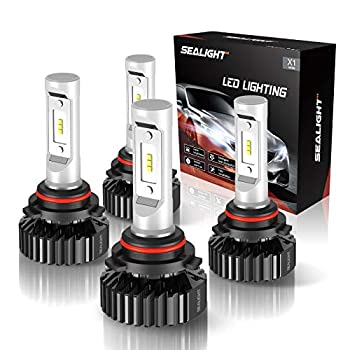 SEALIGHT 9005/HB3 High Beam 9006/HB4 Low Beam LED Headlight Bulbs Combo Package CSP Chips 14000LM 6000K Cool White