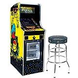 "Bandai Namco Amusement America Pac-Man Pixel Bash Chill Home Upright w 30"" Pac-Man Stool"