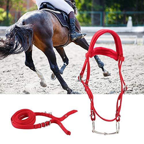 SALUTUYA Pferdegeschirr Langlebig Abnehmbar Rot für Pferde Hilfreiches Zubehör für Ihr Pferd