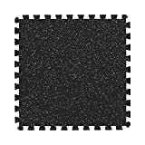 IncStores 3/4 Inch Thick Impact Rubber-Topped Foam Flooring Tiles   Interlocking Foam Tiles for Extreme Floor Protection in Your Home Gym, Training Facility, and More   Grey 10%, 100 Sq Ft