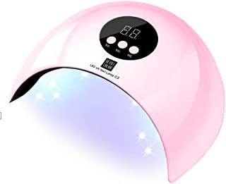 M-YN Lámpara Secadora de Uñas LED/UV 36W LED de la lámpara de uñas, Nail portátil Secador de manicura/pedicura lámpara de curado for Las uñas, Hogar y Salón (Color : Pink)
