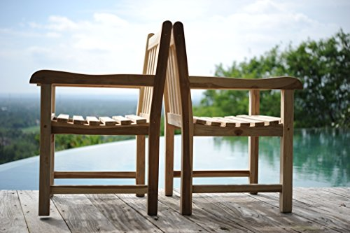 SAM SAM Gartenstuhl Gartensessel Caracas, Gartensessel aus Teak-Holz, aus Massivholz, für Balkon, Terrasse oder Garten [53263261]