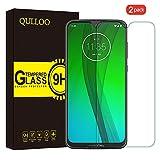 QULLOO Motorola Moto G7/ Moto G7 Plus Panzerglas Schutzfolie, 9H Tempered Glass Hartglas HD Bildschirmschutzfolie Panzerglasfolie Handy Schutzglas Glasfolie für Moto G7/Moto G7 Plus