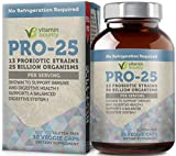 Vitamin Bounty Pro 25 Probiotic with Prebiotics - 13 Strains, 25 Billion CFU, for Gut and Digestive Health with Delayed Release Embocaps & Fermented Greens