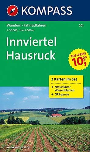 Innviertel, Hausruck 1 : 50 000: 2-teiliges Set mit Naturführer Wiesenblumen. GPS-genau