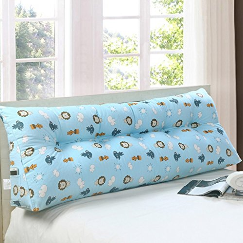 Max Home@ Triangle Éléphant Motif Coussins Moelleux Chevet Canapé Amovible Toile de Coton Oreiller (Taille : 150 * 50 * 20cm)