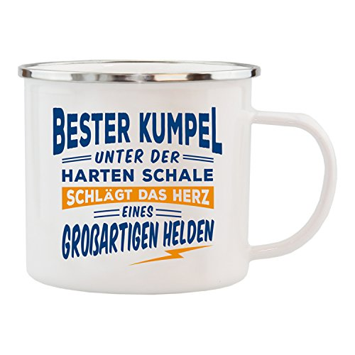 Camping Emaille-Tasse avec Wunschname Camping Gobelet-PERSONNALISE