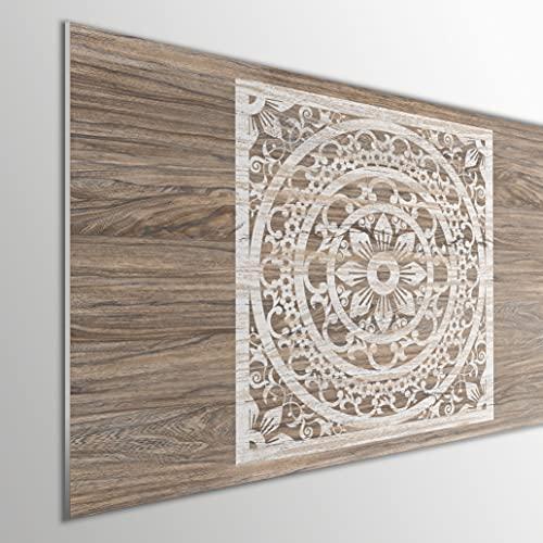 MEGADECOR DECORATE YOUR HOME Cabecero Cama PVC 5mm Decorativo Económico. Modelo - Abnaki (150x60cm)
