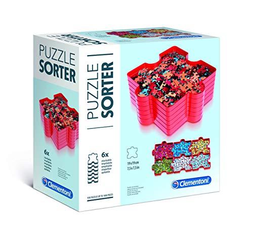 Clementoni 37040 Puzzle Sortierer, praktische Aufbewahrung für Puzzleteile, Schalen zur einfachen Organisation & Transport, Zubehör für kleine Puzzle-Experten ab 6 Jahren