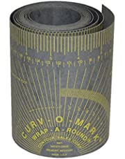 """Jackson Safety 14766 Curv-O-Mark Wrap-A-Round Ruler, X-Large, Gray, 4"""" to 12"""" Pipe Diameter, color Gris, 5.00"""" x 7'"""
