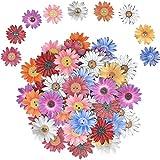 Bottoni 50 PCS Bottoni in Legno Daisy Naturale Bello 25mm Casuale 2 Fori Crisantemo Bottoni per l'album per La Creazione di Vestiti per Bambini a Maglia