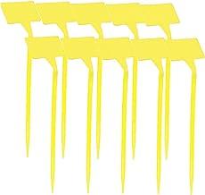Garden Tags T-Type Plant Label Nursery Marker voor Seed 10st Geel Plant label