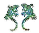 Gecko Screen Door Saver Magnets (6' x 4') Decorative Holographic Gecko Magnets (2 pcs/lot) for Lanai Screen Patio Door Magnets