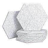 SMEJS 12 PCS Panel de Espuma acústica Paneles acústicos hexagonales para Tratamiento acústico, baldosas de Borde Biselado para Eco de Aislamiento de Bajos