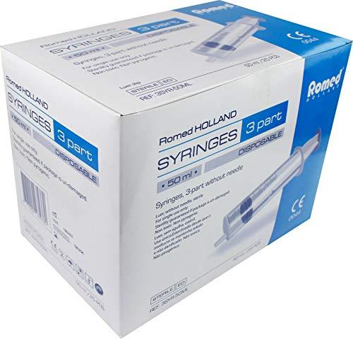 Einmalspritzen Markenware von Romed Medical einzel steril verpackt (25, 50 ml)