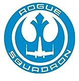 UR Impressions OBlu Rogue Squadron Decal vinile adesivo grafico per auto, camion, SUV, furgoni, pareti, finestre, computer portatili, 5,5 pollici, URI462