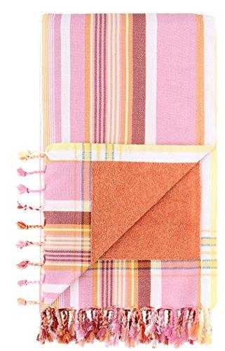 telo mare kikoy Kikoy Factory - Telo mare / Pareo - Asciugamano di spiaggia - Kikoy Towel 13281A20 - Colore : Pumkin - Dimensione : 95 x 165 cms