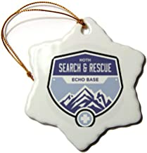 VinMea Hoth Search and Rescue Snowflake Decorative Hanging Ornament, Porcelain, 3-Inch