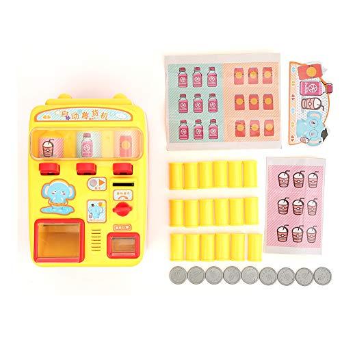 Máquina expendedora de juguete, máquina expendedora de simulación con sonido, juego de rol, juego de compras, educación y aprendizaje para niños y niñas (máquina expendedora)