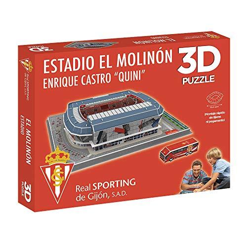 Eleven Force National Soccer Club Puzzle Estadio 3D El Molinón (Sporting Gijón) (10803), Multicolor (1)