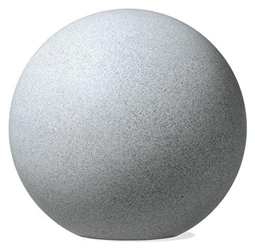 Scheurich Deco Globe, Deko-Kugel aus Kunststoff, Weiß-Granit, 30 cm Durchmesser