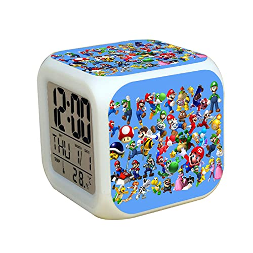 Super Mary reloj Super Mario reloj Super Mario Super Mario hermanos Mario colorido estado de ánimo reloj Foursquare