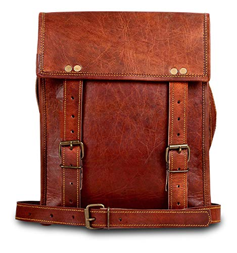 Leather Messenger Bag for Men - Vintage Crossbody Laptop Satchel Bags by Rustic Town (11 inches)