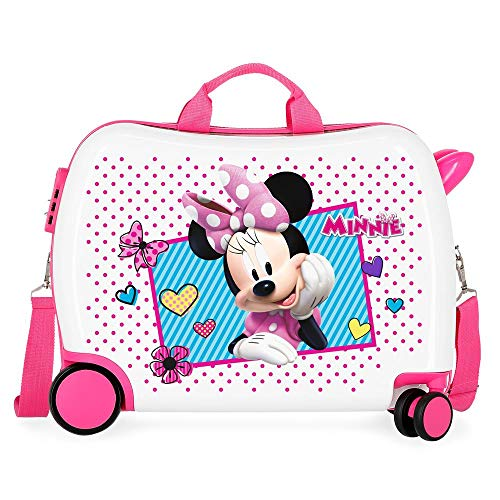 Disney Enjoy Minnie Icon Maleta Infantil Rosa 50x38x20 cms Rígida ABS Cierre...