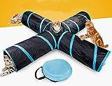 Toomett 4-Wege-Katzentunnel, groß, für den Innen- und Außenbereich, zusammenklappbar, mit Aufbewahrungstasche für Katzen, Hunde, Welpen, Kätzchen, Kaninchen #29844