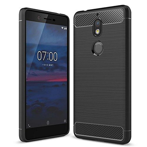 cookaR Cover Nokia 8 Sirocco, Custodia Nokia 8 Sirocco, Cover Nokia 8 Sirocco Custodia Protettiva Silicone Ultra Sottile in Silicone per Cover per Nokia 8 Sirocco(Nero)