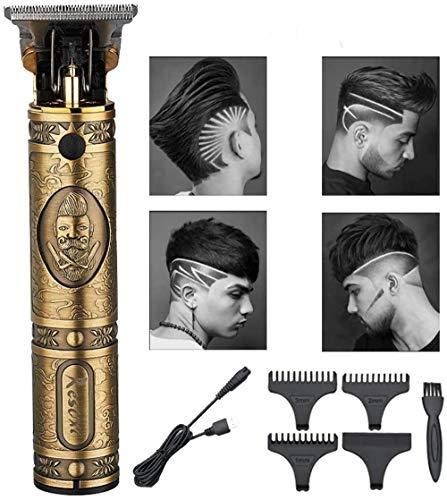 QDWRF Elektrischer Haarschneider Für Herren, Haarschneidemaschine, Elektrischer Trimmer, Trimmer, Herrenhaarschnitt Langlebiger USB-Ladehaarschnitt Mit 3-Limit-Kamm