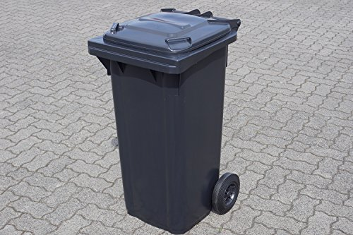 SSI Schäfer Mülltone 120L grau(anthrazit) Müllgroßbehälter - made in Germany