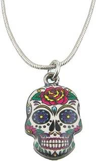 Skull Necklace Sugar Skull Jewelry Cute Dia De Los Muertos Accessories