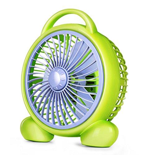 QBY Tafelventilator, draagbare stille bureauventilator, kleine tafelventilator, met 2 snelheden, persoonlijke elektrische ventilator voor op kantoor en thuis, standaard