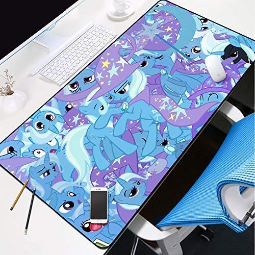 KCGNBQING Gaming Mouse Mat, Gaming Mouse Mat Gaming Gaming Almohadilla Almohadilla Almohadilla Azul Espesa Extendida Mousepad Agua Resistente al agua con la base de goma antideslizante, Pastilla de te