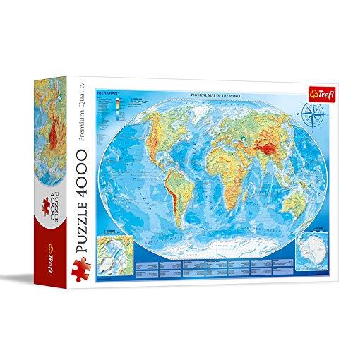 Trefl, Puzzle, Große Weltkarte, 4000 Teile, Premium Quality, für Kinder ab 14 Jahren