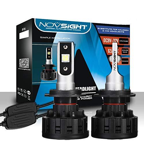 Bombilla LED Coche 2pcs 60W 12000LM Lampara LED 9V/32V Luces LED Coche, Faros Reemplazo de Halógena y Kit Xenón Blanco 6500K