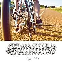 126 リンク チェーン、自転車チェーン バイク アクセサリー 炭素鋼 1/2in X11/128 マウンテン バイク用 ロード バイク用